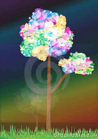 Abstract Rainbow Tree_ai