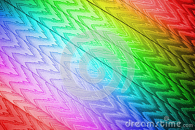 Abstract rainbow zigzag textile closeup, texture,
