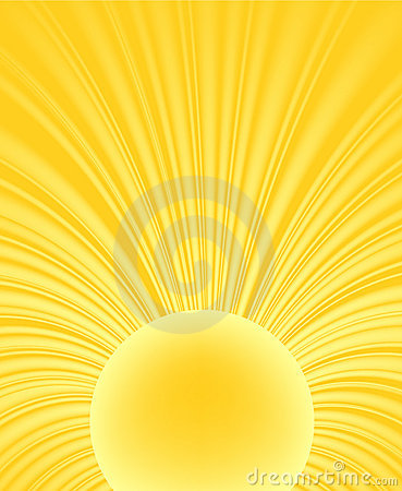 Abstract ray of the sun