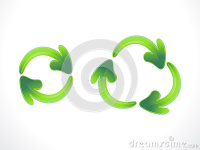 Abstract recycle and refresh icon