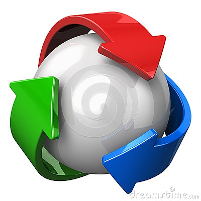 Abstract recycling symbol
