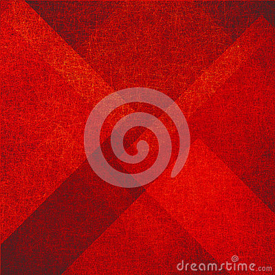 Abstract red background with triangle and diamond shapes in random pattern with vintage texture Stock Photo