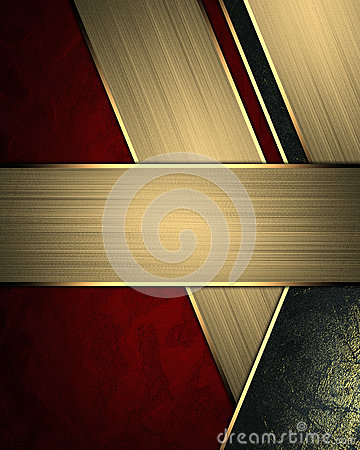 Free Abstract Red Background With Gold Lines And Sign For Text. Element For Design. Template For Design. Copy Space For Ad Brochure Or Royalty Free Stock Photo - 66455245