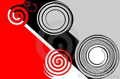 Abstract red-black-grey.
