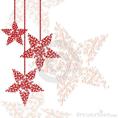 Free Abstract Red Christmas Star Background Royalty Free Stock Photography - 16338827