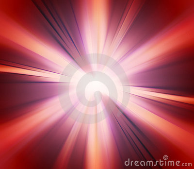 Abstract Red Explosion Background