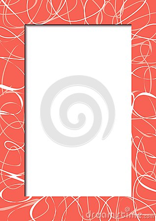 Abstract red frame with scribbles