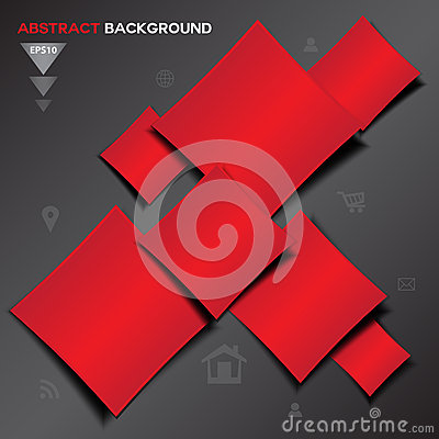 Free Abstract Red Geometrical Vector Background Stock Photos - 63791313