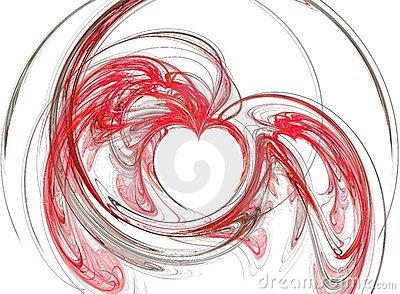 Abstract red hearths
