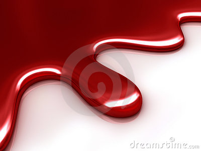 Abstract Red Liquid