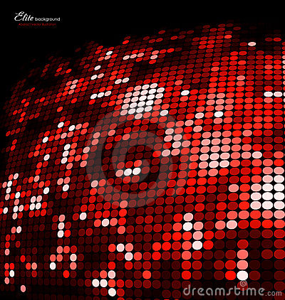 Abstract red mosaic glitter background