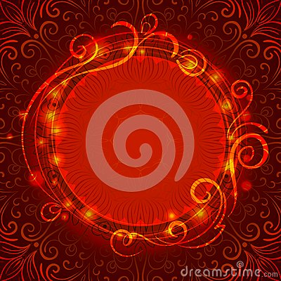 Free Abstract Red Mystic Lace Background With Swirl Royalty Free Stock Image - 41117956