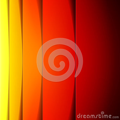 Abstract red, orange and yellow rectangle shapes