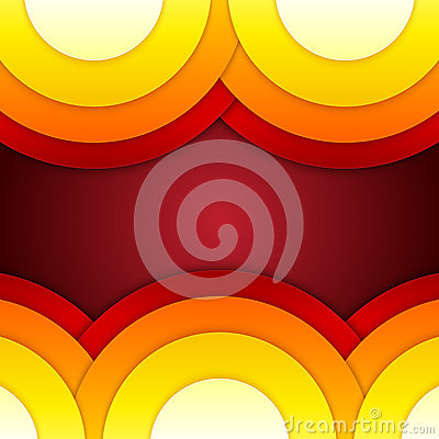 Abstract red, orange and yellow round shapes backg