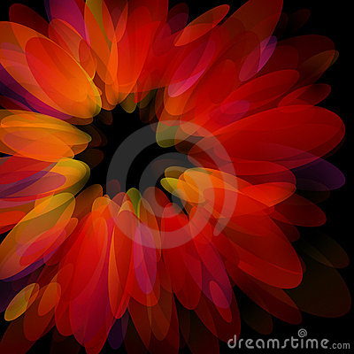 Abstract red petals.