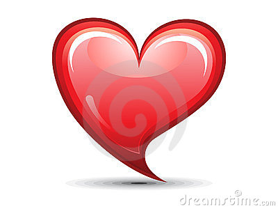 Abstract red shiny heart icon