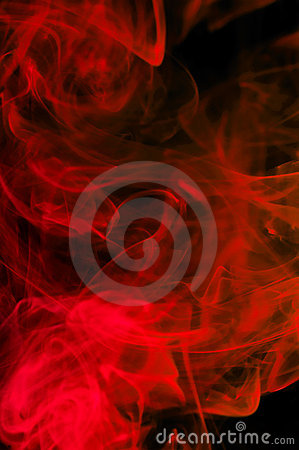Abstract red smoke