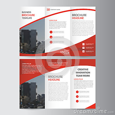 Free Abstract Red Trifold Leaflet Brochure Flyer Template Design, Book Cover Layout Design, Abstract Blue Presentation Templates Royalty Free Stock Photography - 70791057