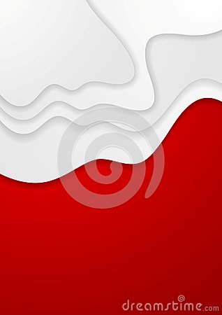 Abstract red and white wavy background