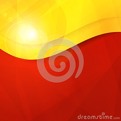 Abstract red yellow orange design template with co