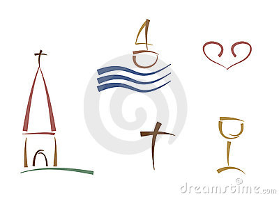 Abstract religious symbols