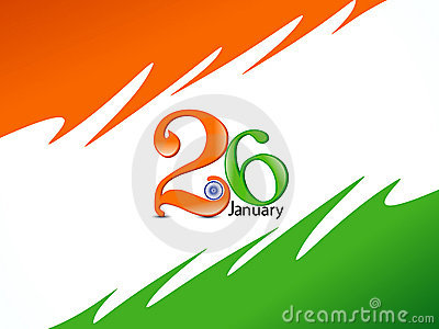 Abstract republic day celebration background