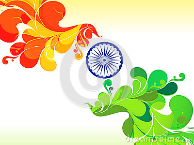 Abstract republic day mail