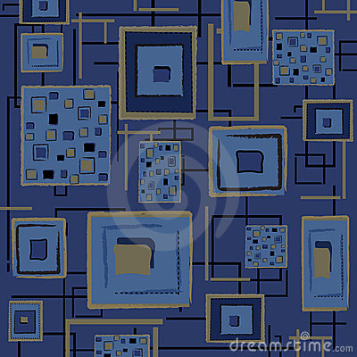 Abstract retro background - blue