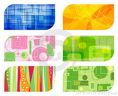 Abstract retro business card b