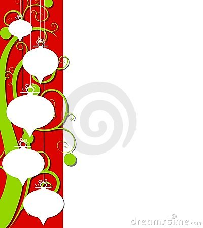 Abstract Retro Christmas Border