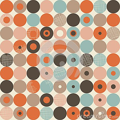 Abstract retro seamless pattern in vector