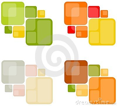 Abstract Retro Square Backgrounds