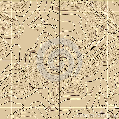 Abstract Retro Topography map Background Vector Illustration