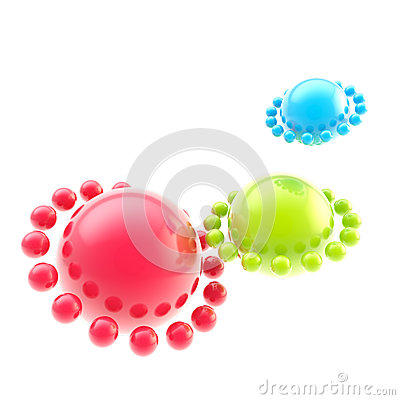Abstract rgb sphere background