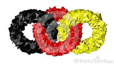 Rings flag of Germany