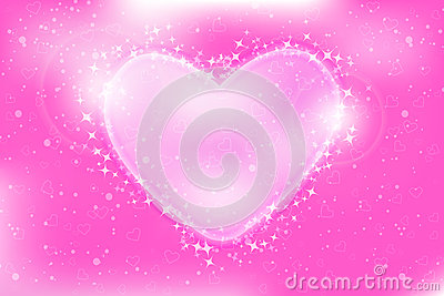 Abstract Romantic Pink Bokeh Vector Background
