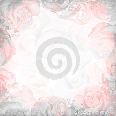 Free Abstract Romantic Rose Background In Pink And Gray Colors Stock Image - 50556371