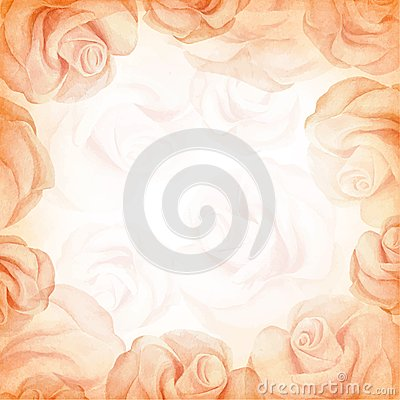Free Abstract Romantic Vector Background In Beige Colors. Vector Illustration Stock Photos - 48228903
