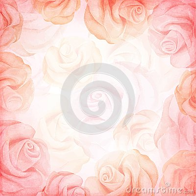 Free Abstract Romantic Vector Background In Pink Colors. Vector Illustration Stock Photos - 48229123