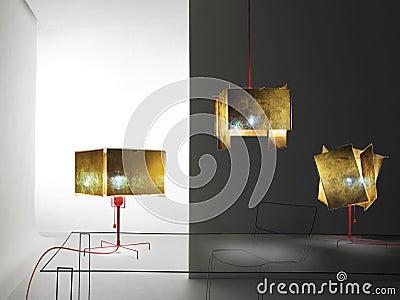 Abstract room furnishings