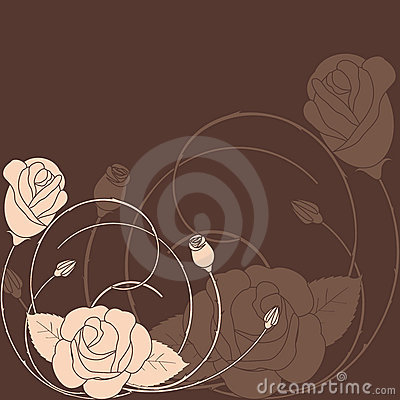 Abstract rose flower pattern background