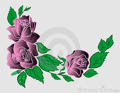 Abstract roses corner
