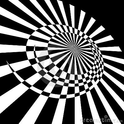 Abstract rotary movement.