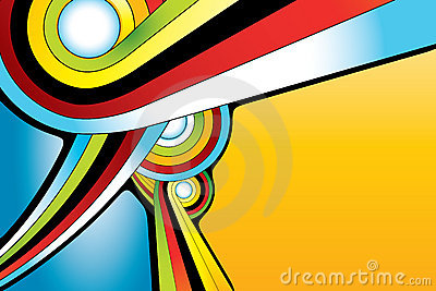Abstract round shape background