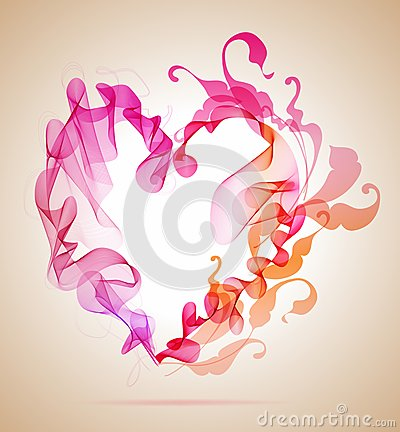 Abstract roze en rood hart