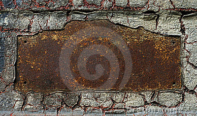 Abstract rusty grunge metal frame