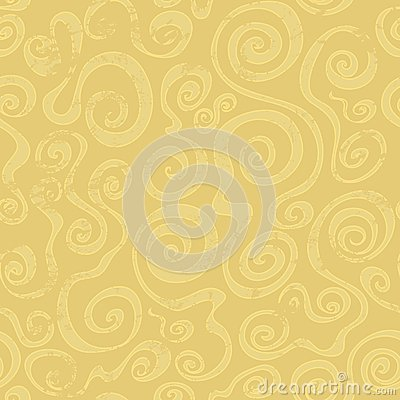 Abstract sand spiral seamless pattern
