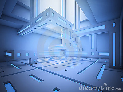 Abstract sci-fi interior
