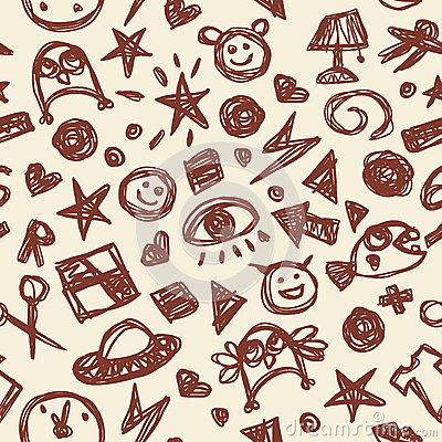 Doodle seamless pencil scribble pattern-model for design of gif ...