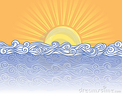 Abstract sea waves.